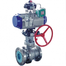 Pneumatic cut off ball valve