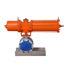 Single acting pneumatic ball valve