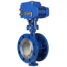 Electric flanged butterfly control valve