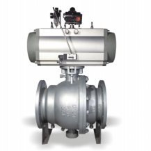 Pneumatic trunnion ball valve