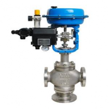 Pneumatic 3 way diverting regulating valve