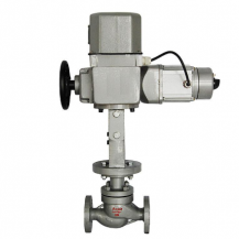 Electric steam globe control valve
