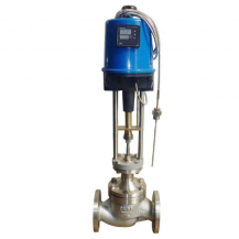 Electric steam temperature control valve
