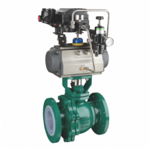 Pneumatic PTFE PFA lined ball valve