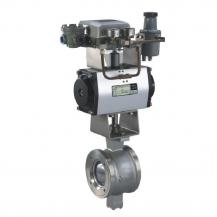 Pneumatic V Port Segmented Ball Valve