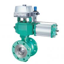 Pneumatic segmented ball valve