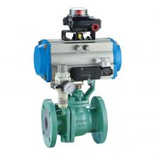 PTFE PFA Lined Pneumatic ball valve