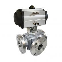 Pneumatic T Port L Port 3 way ball valve